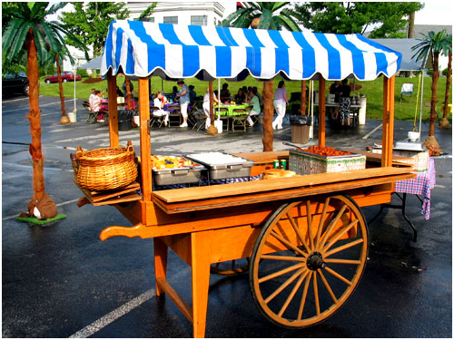 wood push cart 1